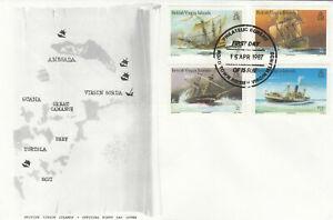 (89998) British Virgin Islands FDC Ships 1987