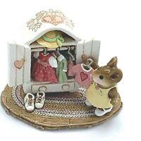 Wee Forest Folk Miniature Figurine Mollies Choice Clothes Closet Valentine M 257