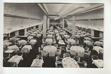 Real Photo Postcard Dining Room First Class on New Amsterdam in New York City
