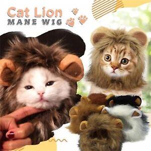 Lion Mane Costume Headgear Small Cat Cosplay Wig Hair Christmas Fancy Prop Dress