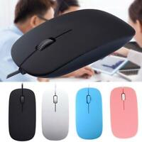 QUALITY WIRED USB OPTICAL MOUSE For PC LAPTOP COMPUTER WHEEL SCROLL LED RED M5N2