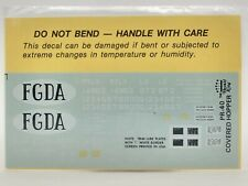 FGDA Olive Green Covered Hopper (7-74) HO Decals - Herald King #PR-40