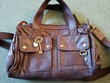 Beautiful Brown Leather Fossil Bag