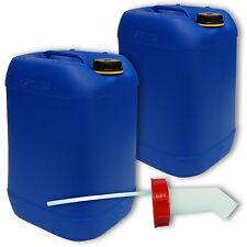 2 Stück Kanister Behälter 20 L blau Plastikdeckel Zubehör Schnellausgießer DIN61