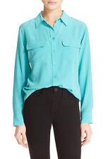 Equipment 'Slim Signature' Silk Shirt Myanmar Green S NWT $218