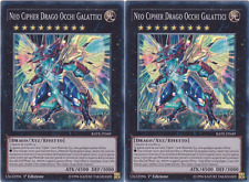 Yu-Gi-Oh!  Neo Cipher Drago Occhi Galattici (X2) ☻ ITALIANO ☻ Super Rara ☻ RATE