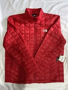 THE NORTH FACE Thermoball Puffer Red Full Zip Jacket Insulated Men's XL