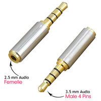 Adaptateur convertisseur Jack 3.5mm mâle vers 2.5mm femelle pour Écouteur Casque