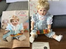 NIB CUTE Porcelain Melody Doll W/Xylophone By Hamilton Collection