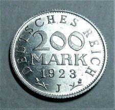 Deutschland / Weimar / Inflationszeit 200 Mark 1922 J Aluminium st/ unc