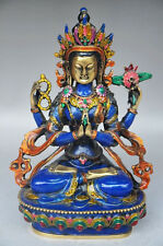 Copper cloisonne handicrafts Tibetan Buddhism statue of the Buddha NRR023