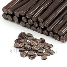 3x Hecho a Mano Ondulación canes Chocolate Oscuro-Arte en Uñas (11nc51)