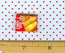 DOLLHOUSE Miniatures Size French Bread Pizza Box