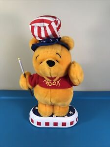 Disney Winnie The Pooh Telco US Animated vintage plush Uncle Sam - NOT WORKING