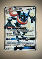 Pokémon Greninja GX SV56/SV94 SHINY HIDDEN FATES - Near Mint