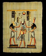 Rare Authentic Hand Painted Ancient Egyptian Papyrus Ramses II Crowning