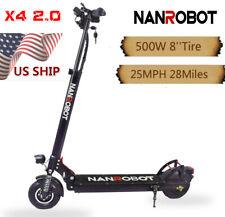 Nanrobot Electric Scooter X4 2.0 500W 48V Foldable 8 Inch Fast 25 Mph Us Ship