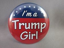 WHOLESALE LOT OF 22 I'M A TRUMP GIRL BUTTONS Woman for President red white blue