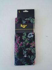 NWT Dr. Martens Poison Black Floral Socks Size L