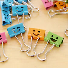 Smile Metal Binder Clips Folder For Office School File Paper Organize 8PCS 19mm