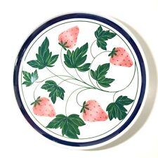 "Dansk Berries Strawberry Salad Plate 8"""