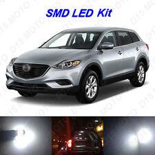 11 x White LED interior Bulbs + License Plate Lights for 2008-2015 Mazda CX-9