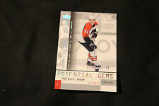 02-03 UD Mask Collection Rookie Patrick Sharp RC #128