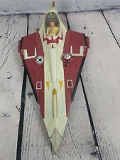Hasbro Star Wars Attack of the Clones Jedi Starfighter w/ Figure. Missing turret