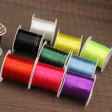 1mm 10m Waxed Cotton Thread Polyester Cord Jewelry Bead Sewing Wire DIY