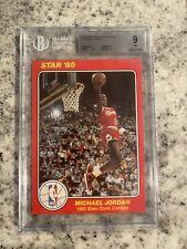 MINT 1985 1984-85 STAR SLAM DUNK SUPERS 5X7 BGS 9 MICHAEL JORDAN #5 HIGH GRADE!