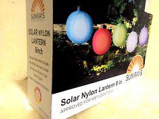 "Choose 3 NEW Solar Powered 8"" LED Lamps Light Chinese Nylon Fabric Lantern Lamp"
