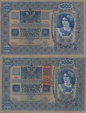 AUSTRIA 1000 KRONER. 2 de Junio de 1902. Serie 1554. Tamaño 193x130.