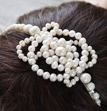 celtic knot pearl side tiara ivory white freshwater pearl wedding headband