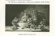 """ANTIQUE FRUIT NUTS WICKER BASKET GLASS JAR """" FOR THE HOLIDAYS """" MINIATURE PRINT"""