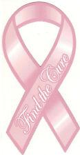 2 Breast Cancer AWARENESS Pink Ribbon CAR Magnets Find the CURE Survivor