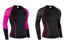 Zimco Elite Youth Compression Shirt Running Long Jersey Ladies Skin Top 3092