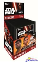 Topps Star Wars Force Awakens 50 Pack Factory Sealed Sticker Box-250 Stickers!