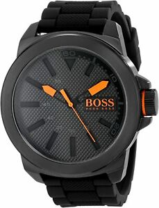 Hugo Boss Orange 1513004 New York Leather Strap Men's Watch HB.221.1.34.2625