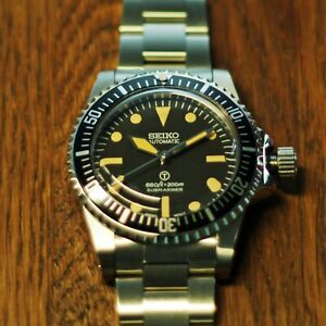 Seiko NH35 - Vintage 5517 Submariner Milsub Style Homage/Mod Automatic Watch