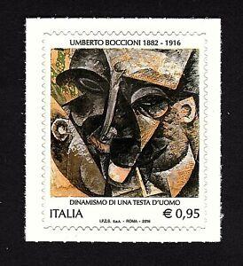 Italia 2016 : Umberto Boccioni , Futurismo - nuovo non linguellato, MNH**