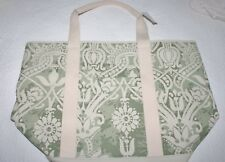 POTTERY BARN LORRAINE TOTE BAG - GREEN