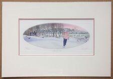 "1994 Jean Cencig Signed Aquatint Etching - Quebec Winter Scene - Mat 12""x17"""