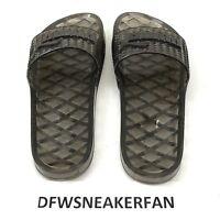 Puma X Fenty By Rihanna BLACK CLEAR ️Jelly Slip On Slides Sandals WMS Size 8.5