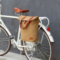 Tourbon Canvas Clip-On Quick-Release Bike Panniers Women's Shoulder Tote Bag