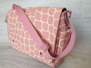 New Kate Spade Diaper Baby Bag Messenger Pink