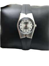 Armitron Ladies Mini Thin Sport Black Rubber Band Quartz Watch 25/6355-H40