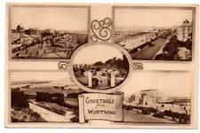 Greetings from Worthing, multiview card, Worthing, Sussex