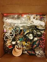 15 Pounds VTG to Now Tangled Broken Junk Craft Repurpose Harvest Jewelry Lot #3
