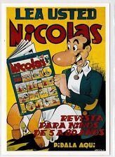 Reproducción antigua publicidad NICOLAS LEA USTED REVISTA PARA NIÑOS