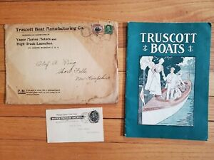 Rare 1901 Sales Catalog Truscott Boat High Grade Launches & Marine Motors NO Res